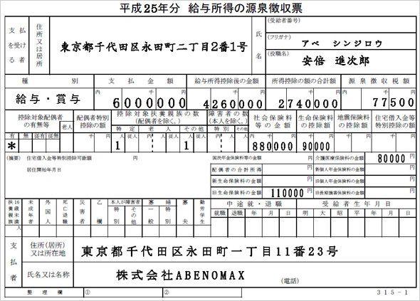 ITmedia ビジネスオンライン|源泉徴収票の見方――サラリーマンの税金を理解しよう